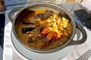 arroz meloso con gambas