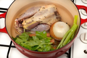 pheasant and stock vegetables