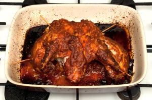 spatchcock pheasant with harissa