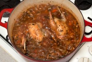 pot roasted partridges