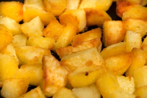 fried potato cubes