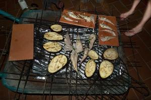 wheelbarrow barbecue