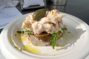crayfish and caper berry