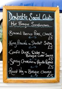 donostia menu