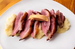 magret, celeriac and foie gras