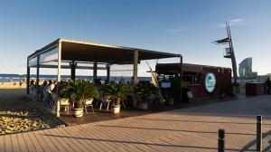 blue beach bar