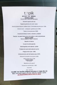 menu de migdia