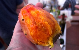 peeling prickly pear