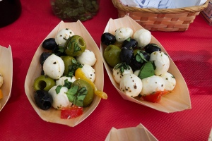 mozzarella and olives