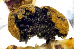 squid ink arancini