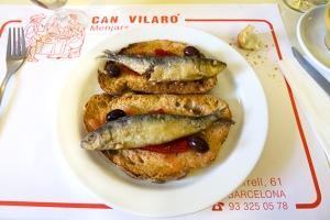 sardines amb torrades